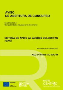 AVISO DE ABERTURA DE CONCURSO