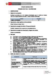 AVISO DE CONVOCATORIA PROCESO CAS N MIDIS-PNCM