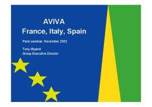 AVIVA France, Italy, Spain