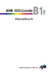 AVM ISDN-Controller USB. Handbuch. High-Performance ISDN by