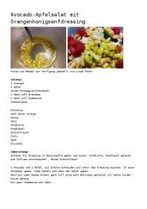 Avocado-Apfelsalat mit Orangenhonigsenfdressing
