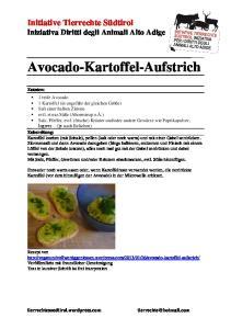 Avocado-Kartoffel-Aufstrich