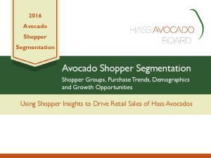 Avocado Shopper Segmentation