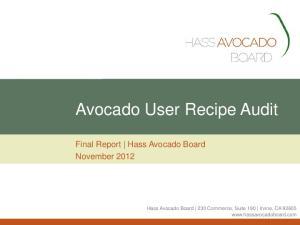 Avocado User Recipe Audit