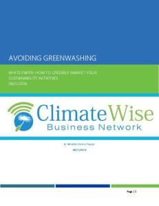 AVOIDING GREENWASHING