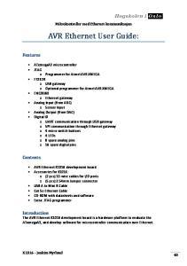 AVR Ethernet User Guide: