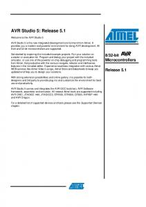 AVR Studio 5: Release 5.1