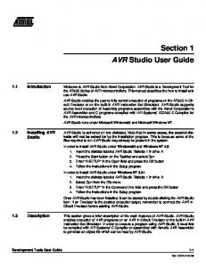 AVR Studio User Guide