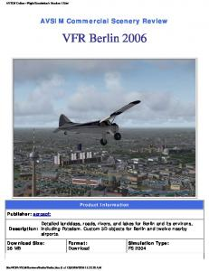 AVSIM Commercial Scenery Review. VFR Berlin Product Information