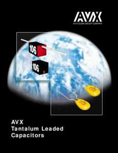 AVX Tantalum Leaded Capacitors A KYOCERA GROUP COMPANY