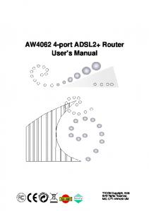 AW port ADSL2+ Router User s Manual