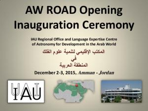 AW ROAD Opening Inauguration Ceremony