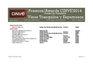 Awards CINVE'2014