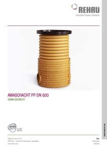 AWAschacht PP DN 600 KANALschacht AWASCHACHT 600. Bau Automotive Industrie