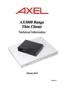 AX3000 Range Thin Clients