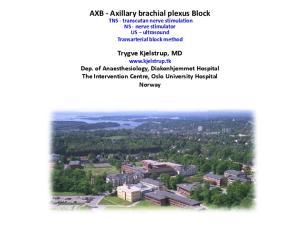 AXB - Axillary brachial plexus Block