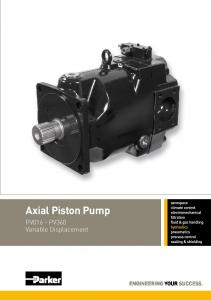 Axial Piston Pump. PV016 - PV360 Variable Displacement