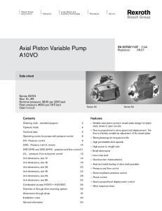 Axial Piston Variable Pump A10VO