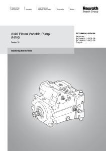 Axial Piston Variable Pump A4VG