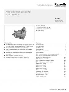 Axial piston variable pump A7VO Series 63