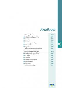 Axiallager. Axialkugellager 378. Axialpendelrollenlager 384