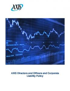 AXIS Directors and Officers and Corporate Liability Policy