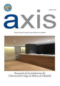 axis Renovación de las instalaciones del Club Social del Colegio de Médicos de Valladolid Octubre 2016