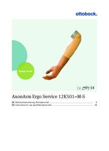 AxonArm Ergo Service 12K501=M-S