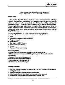 AxyPrep Mag TM PCR Clean-up Protocol
