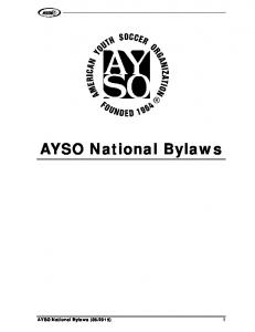AYSO National Bylaws