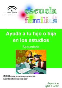 Ayuda a tu hijo o hija en los estudios