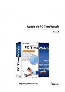 Ayuda de PC TimeWatch