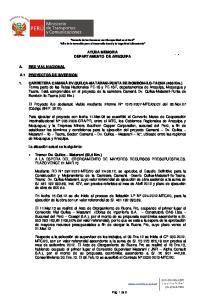 AYUDA MEMORIA DEPARTAMENTO DE AREQUIPA