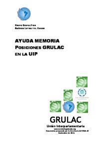 AYUDA MEMORIA POSICIONES GRULAC
