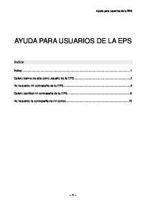 AYUDA PARA USUARIOS DE LA EPS