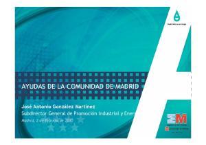 AYUDAS DE LA COMUNIDAD DE MADRID