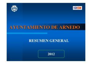 AYUNTAMIENTO DE ARNEDO RESUMEN GENERAL