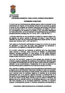 Ayuntamiento de Candeleda ORDENANZA MUNICIPAL REGULADORA LICENCIA OBRA MENOR