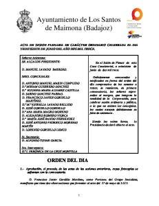 Ayuntamiento de Los Santos de Maimona (Badajoz)
