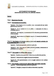 AYUNTAMIENTO DE MIRAMAR ORDENANZA MUNICIPAL DE LIMPIEZA URBANA