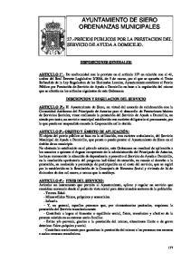 AYUNTAMIENTO DE SIERO ORDENANZAS MUNICIPALES