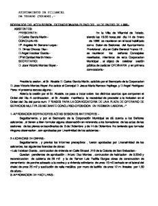 AYUNTAMIENTO DE VILLAMIEL DE TOLEDO (TOLEDO).-