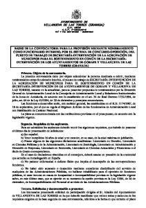 AYUNTAMIENTO DE VILLANUEVA DE LAS TORRES (GRANADA)