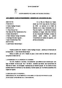 AYUNTAMIENTO VILLAMIEL DE TOLEDO (TOLEDO).-