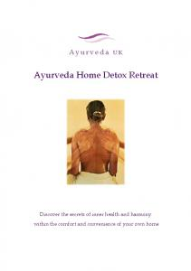 Ayurveda Home Detox Retreat