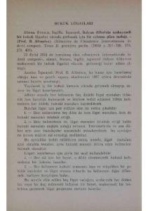 Azadan İspanyah Prof. R. Altamira, bu husus için hazırlamış olduğu kısa ve pratik raporu akademinin 1927 içtima devresinde umumî heyete arzetmişti