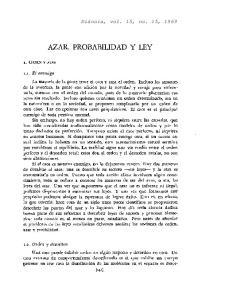 AZAR, PROBABILIDAD Y LEY