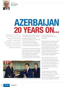 AZERBAIJAN 20 YEARS ON... insight DECEMBER 2014