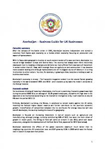 Azerbaijan Business Guide for UK Businesses