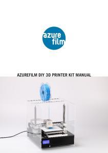AZUREFILM DIY 3D PRINTER KIT MANUAL